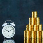 時計と金貨